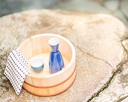 風呂桶と温泉