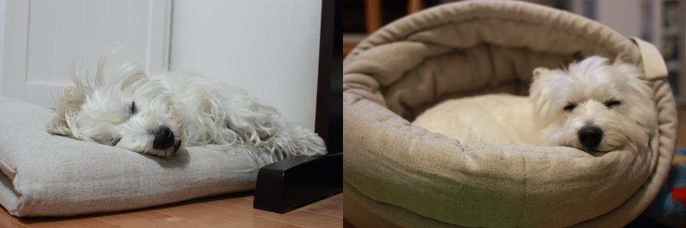 リネンのベッド