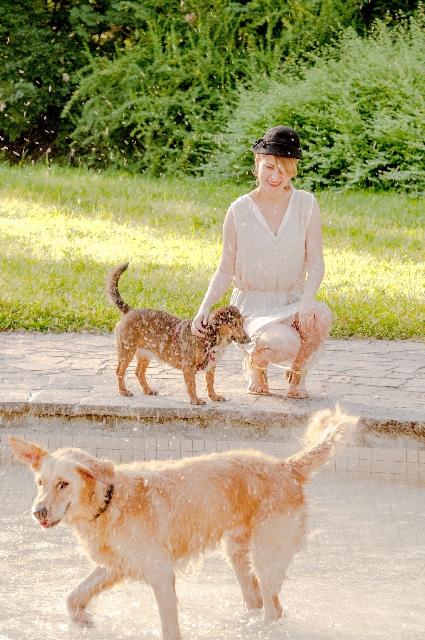 欧米人と犬