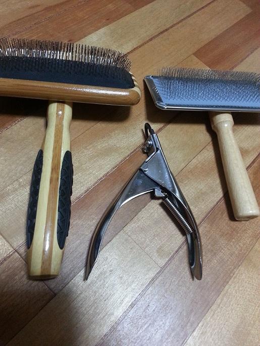 トリマーの道具スリッカー爪切り
