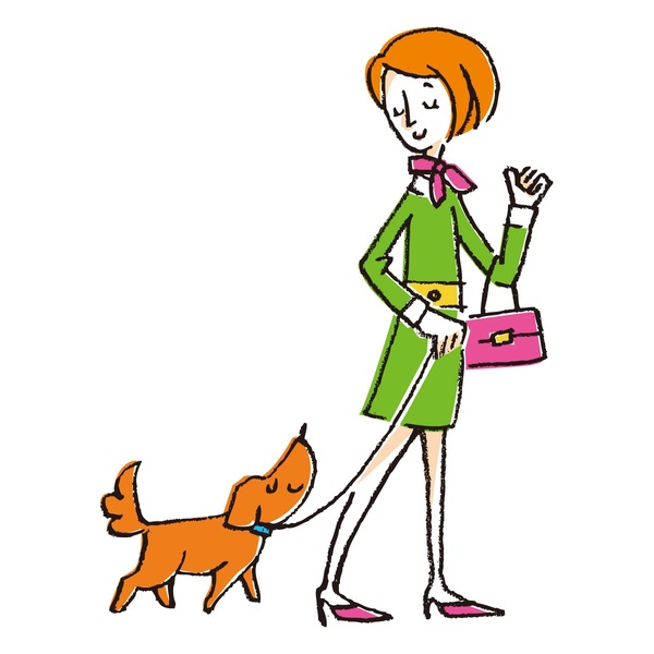 犬と買い物