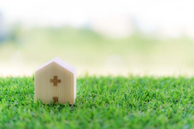 病院の置物 芝生