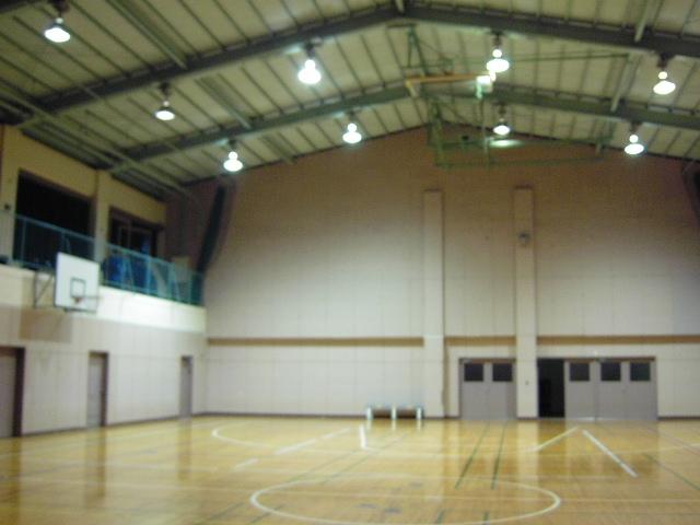 避難所によく使用される体育館