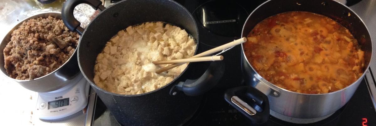 鍋の中の食材