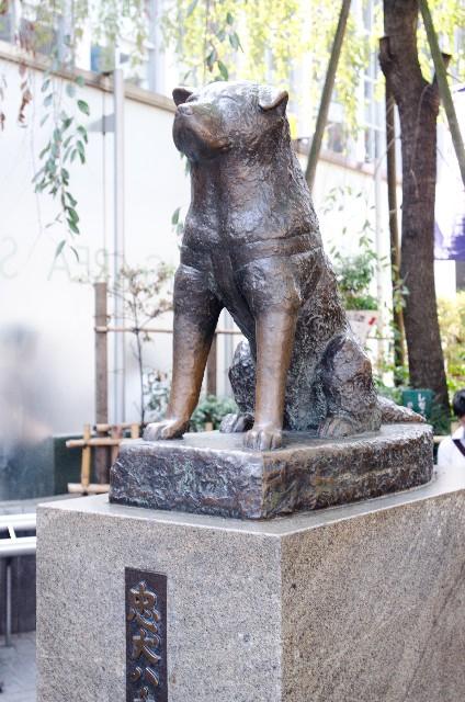ハチ公の銅像の写真