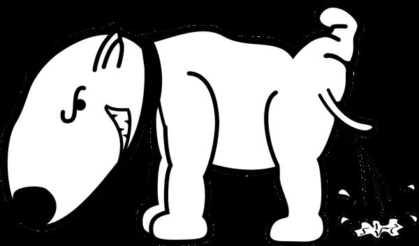 足を上げてオシッコする犬のイラスト