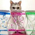 「くるくるキラキラきれいだにゃぁ。」初めてのオイル時計!ウットリ…