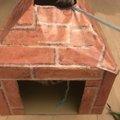 遊べる入り口2箇所、煉瓦づくりの煙突風ねこちぐらを作ってみた!