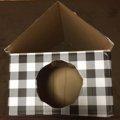 余ったダンボールで三角屋根のハウスを手作り!