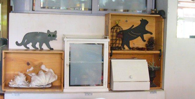 超簡単!ワインの木箱で『猫階段』を作ってみました