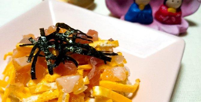 猫にもひな祭りのお節句ごはん『ちらし寿司風ねこまんま』