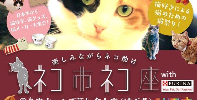 猫のチャリティーイベント「ネコ市ネコ座withピュリナ@島忠ホームズ草加舎人」に出かけよう!