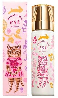 キュートな猫のデザインの化粧水ボトルが登場!