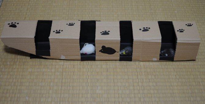 愛猫の運動不足解消のために!「ねずみのトンネル」を手作りしてみた!