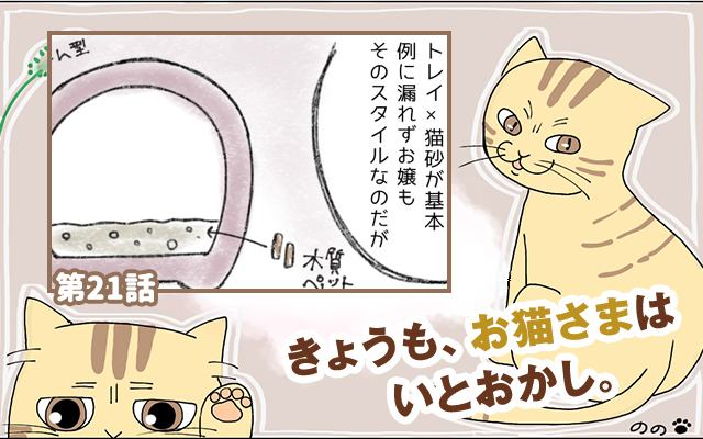 きょうも、お猫さまはいとをかし。【第21話】「猫砂の必要性」