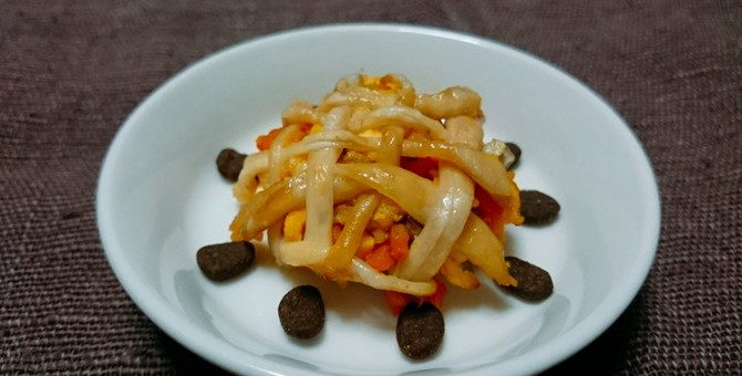 猫の手作りごはんレシピ♪『カボチャときのこの鶏皮パイ』食欲も秋めく季節には、ちょっと贅沢に♡