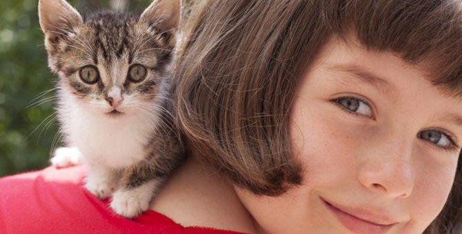 猫が人の子供に与える影響や相性