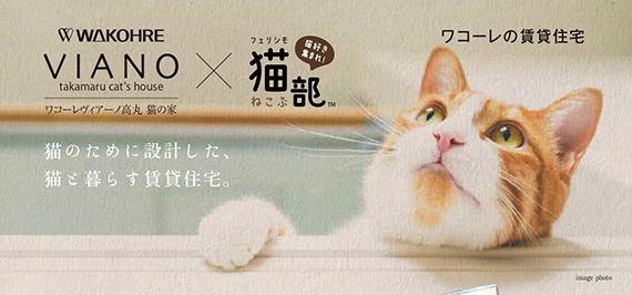 猫と一緒に暮らすための物件が登場!