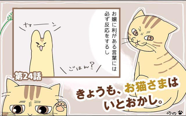 きょうも、お猫さまはいとをかし。【第24話】「軽蔑の目」