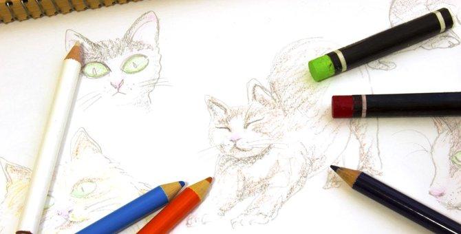 猫の絵がおしゃれでカワイイ!お部屋に飾れる商品9選