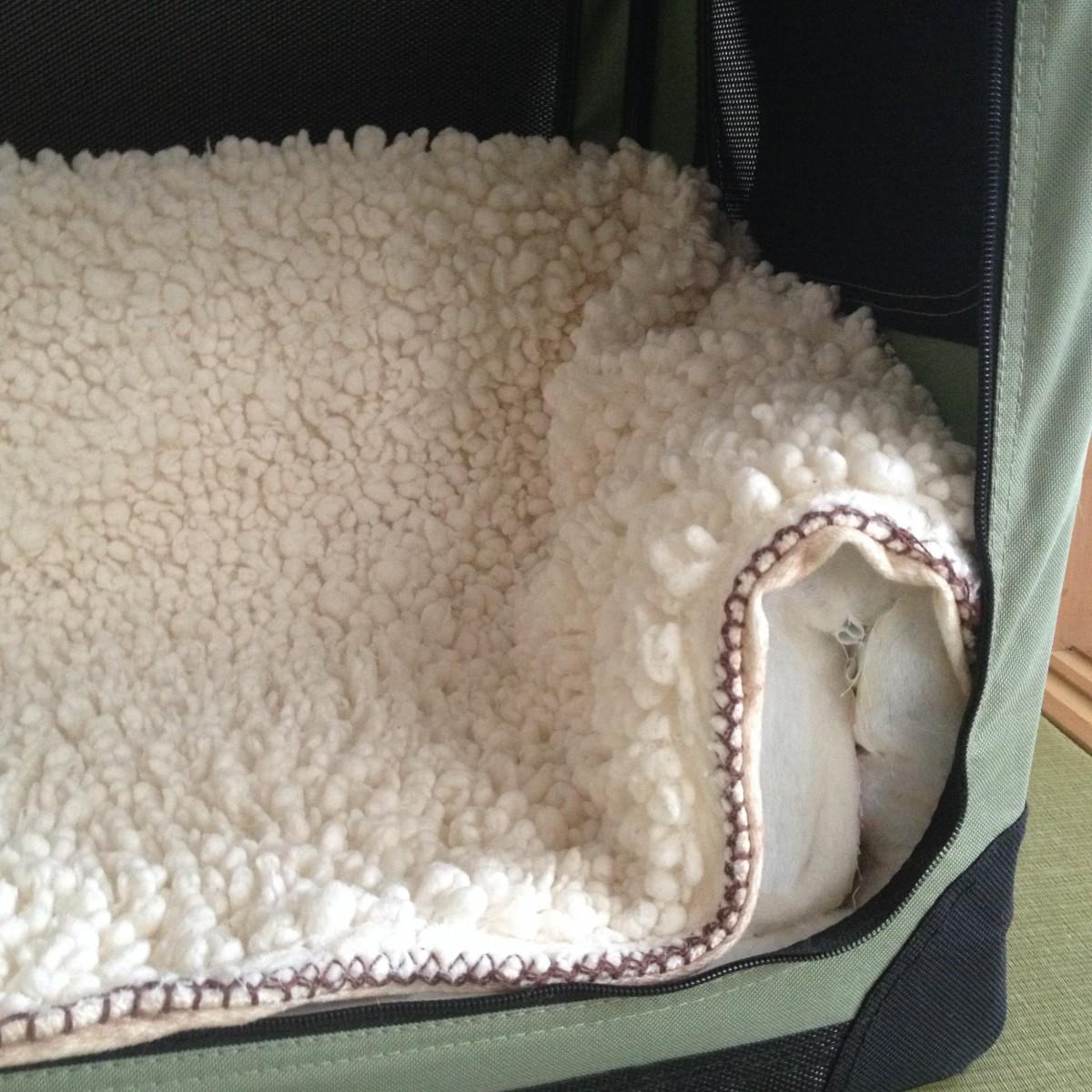 捨てるの待って!処分予定のお布団で、猫用ペットケージの冬支度!