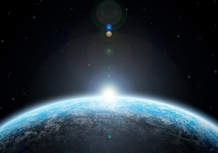 地球にさす光