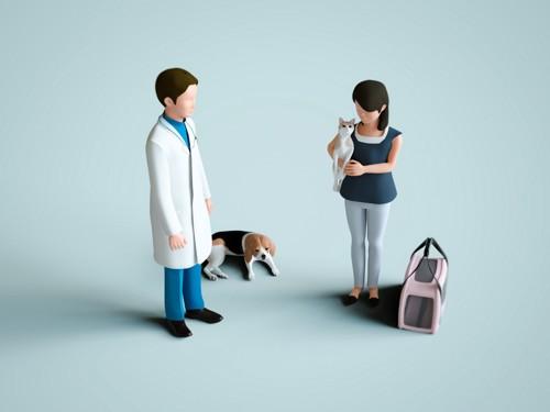 飼い主と獣医師イメージ