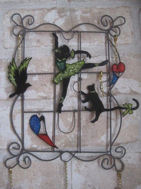 黒猫の壁飾り