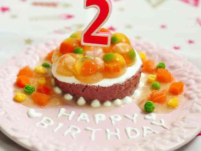 豪華な2層テリーヌケーキ