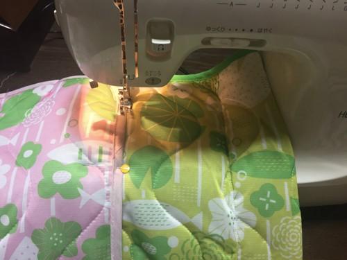 # 冷感キルティングマットを縫い合わせる#