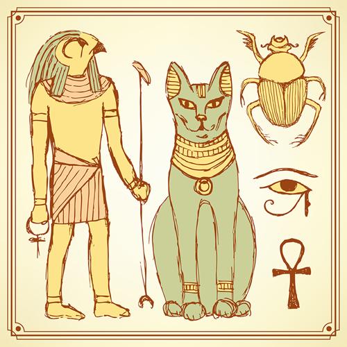 猫が描かれた壁画