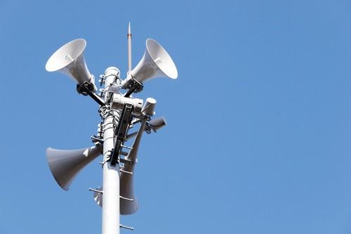 町の防災無線