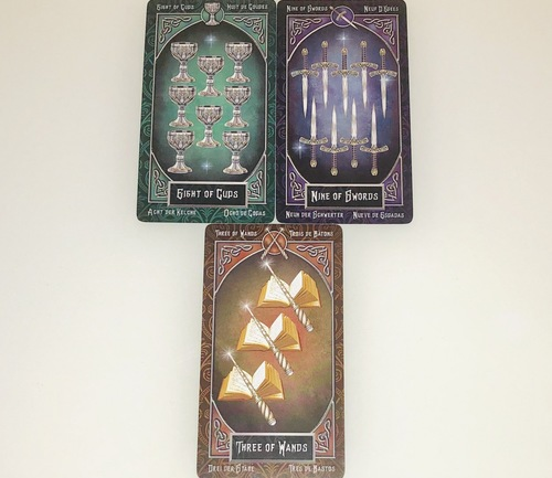 EIGHTofCUPS/NINEofSWORDS/THREEof WANDS