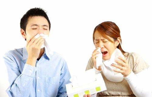 アレルギーの人
