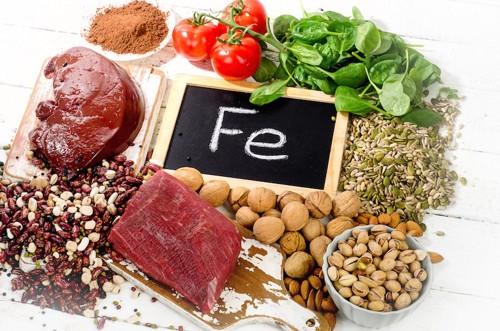 様々な食材とFeの文字