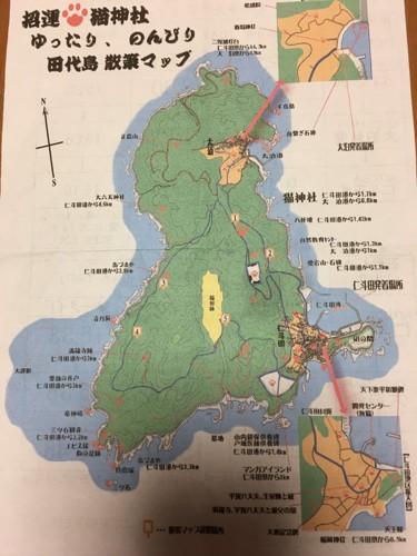 猫島の地図