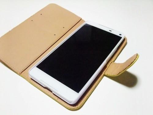 手帳型の携帯カバー