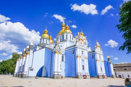 ウクライナ 聖ミハイル黄金ドーム修道院