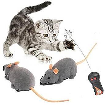 Time4Deals 猫じゃらし ネズミ型 グレー