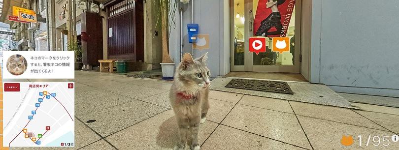 画面右下のカウンターの、発見した猫の数が1になっている画像