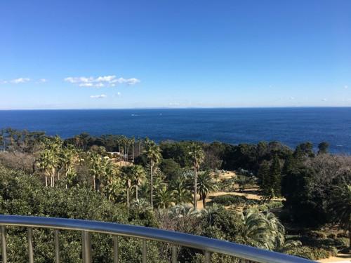 灯台から見た海
