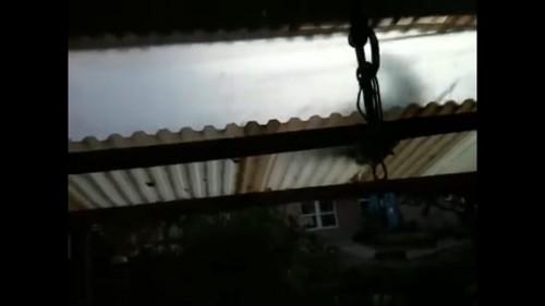 天井に何かが落ちてくる