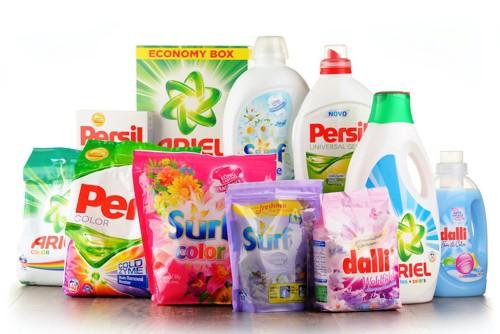 様々な種類の洗剤