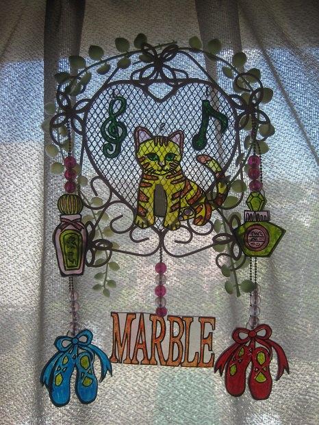 猫の窓辺飾り