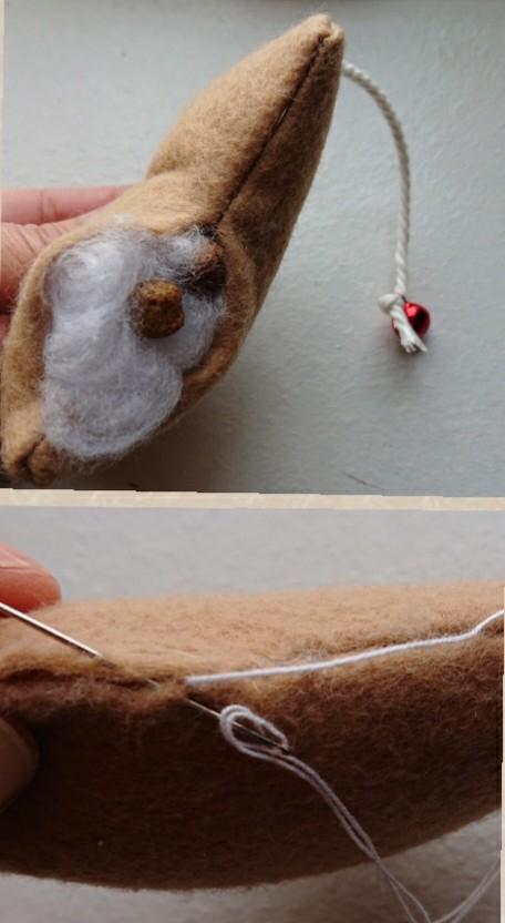 綿を入れて開いた部分を縫うもの
