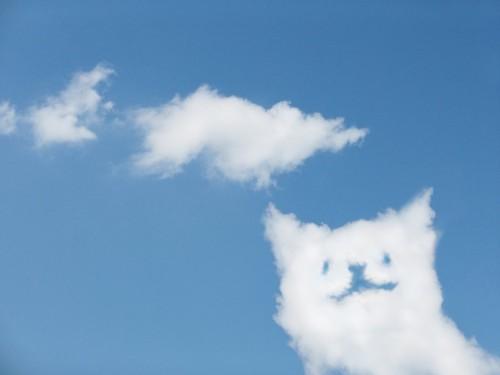 猫の形をした雲