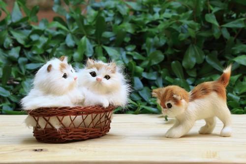 猫のミニチュアマスコット