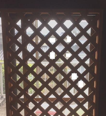 窓際に写っているラティス