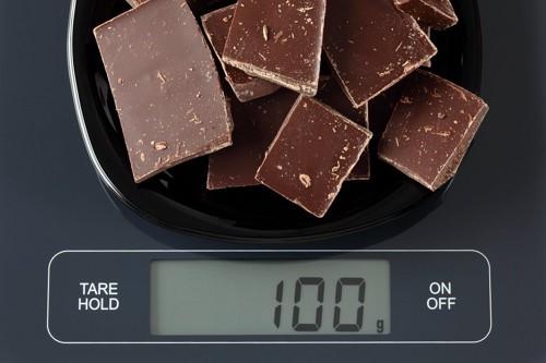 チョコレート計り写真