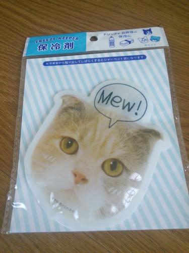 猫の顔の保冷剤
